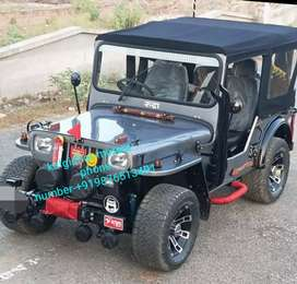 Silver colour modified jeep