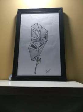 Sketch wall hanging