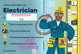 Need a electrician man. we have  a company.