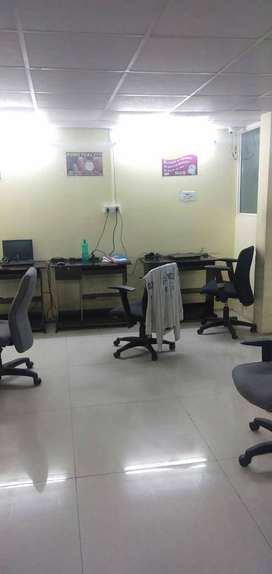 Small 7 seater plug&play office space for rent in basheer bagh HYD