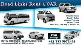 Rent a car islamabad/Rwp with Rates