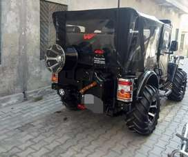 Willy close modified black jeep