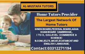 For O/A Levels,IGCSE,Class 1-12th,IELTS-Online/Home Tutor Available