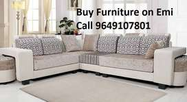Today Offer New Sofa set 8510, L shape sofa 13999, Emi available