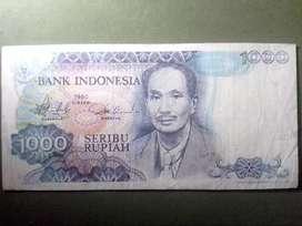 Rp 1000 tahun 1980.