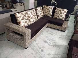 brand new designer l shape brown corner sofa set