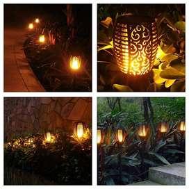 Smart Solar Flame Light Lampu Obor Api Tenaga Surya Solar Torch Garden