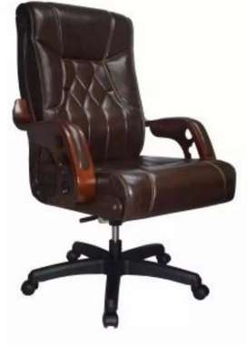 Executive Bistre Wooden Arms Office Chair