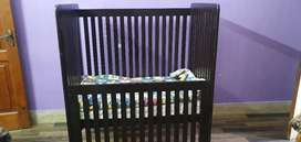 Baby wooden Cot Bed (Cart)