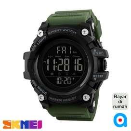 Jam tangan sport military digital anti air original skmei ab1384 green