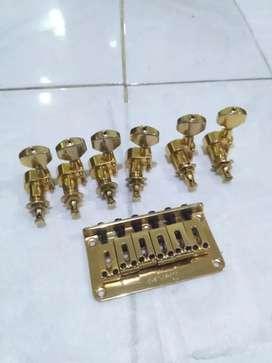 dryer scruless dan bridge set original ibanez GOLD
