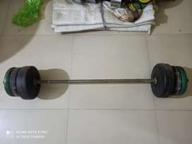 30kg weight plates and a 4 feet straight rod