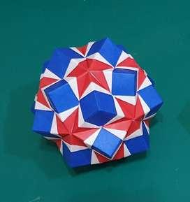 bola origami kertas KUSUDAMA