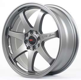 velg mobil hsr ring 17x7,5 semi matt grey h8x100-114,3 SMG