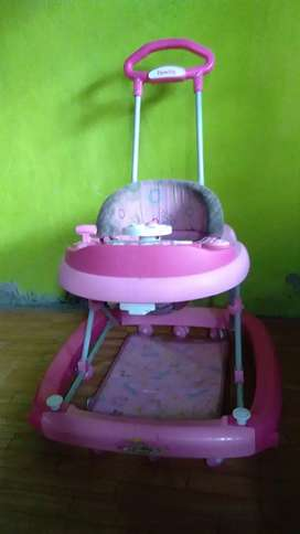 """Baby walker """"family"""" pink"""