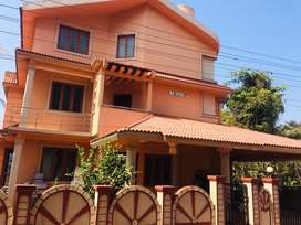 Available 4bhk semifurnished banglow for rent in porvorim .