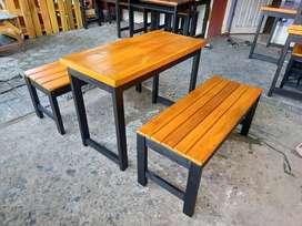 1set, Meja kursi, meja makan, meja Cafe, meja warung, kios,  kost