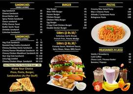 required cook for fast food (pizza , burger )