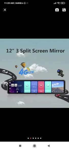 4g Android 12 inch dash cam and tracker