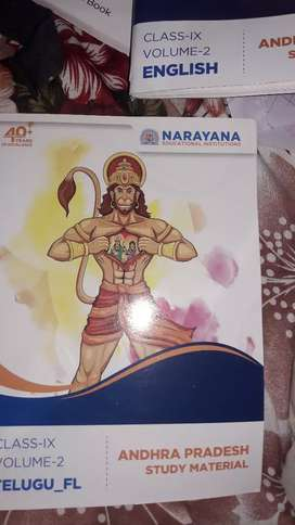 9 class  Narayana books only6 months used