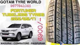 FORTUNER ALL TERRAIN TUBELESS TYRE SALES 265/65/17 TRAINGLE