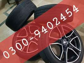 Italian OZ racing 2 tone sports 17 inch Alloy Rims Wheels Dunlop Tyres