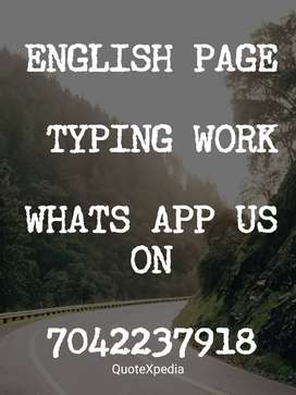 simple typing work available for students