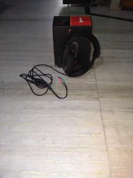 Head phones with mic  with wire
