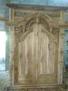 Pintu gapura jati ukuran 2x270 cm