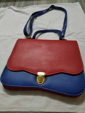 Women Bag blue red color new