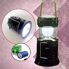 Senter, Lentera, Powerbank, Dual Power (Panel Surya & PLN)