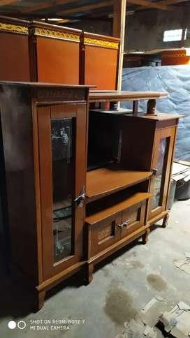 Lemari tv diamon kayu
