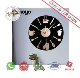 EMOYO D132 Jam Dinding Bulat Modern Design
