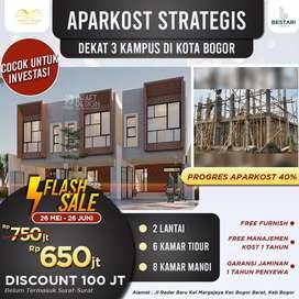 Flash Sale Aparkost Strategis 2.5 lantai di Kota Bogor