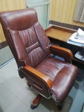 An executive imported revolving chair
