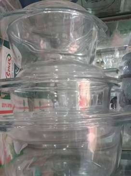 New stylish Glass tea set cake set Mugs etc...