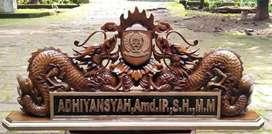 Papan Nama Ukir Relief