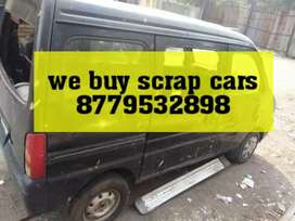 We buy junk cars in scrap