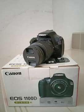 Canon 1100D Lensa kit 18-55mm Fulset Mulus