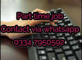 Part time job best opportunity for males and females. 1386