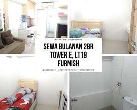 Apartemen Sewa Bulanan Bassura 2BR Furnish Lt.19 Tower E, 7CITY1017