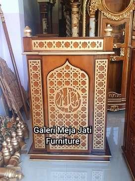 Mimbar masjid E207 redy bahan kayu jati