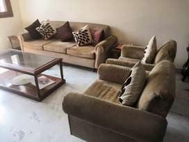Fabric sofa 3 seater plus 2 one seaters