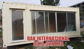 Ready Office container with Front glass porta cabin guard room..