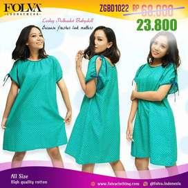 Babydoll Dress Hijau ZGBD1022 - Baju Tidur By Folva Clothing