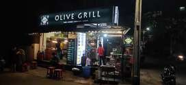 Olive grill and dosa street for sale with full kitchen setup