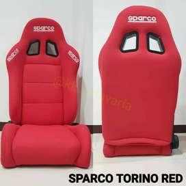 Jok racing sparco torino merah readystock balikpapan