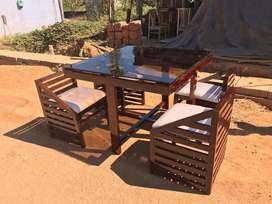 Wooden dining