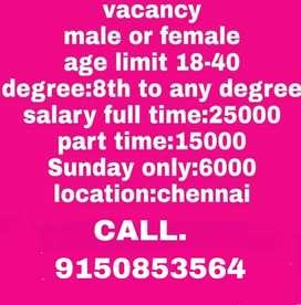 OFFICE WORK IN CHENNAI