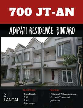 HOUSE WANTED, 2 Lantai di BINTARO, Graharaya, alam sutera